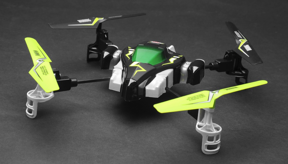 Hero RC H1 X1 Syma Quadcopter Drone Viking Space Ship 24Ghz 4 Channel Lime W Extra