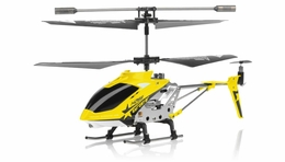 Hero RC  H288 Gyro Star   3 channel Metal Micro Helicopter Genuine and Manufactured by Syma S107/S107G OEM w/ bonus blades, balance bar, connect buckle, tail blade & tail decoration (Yellow) RC Remote Control Radio