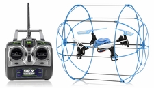 Hero RC  Sky Matrix H1306 4 CH  QuadCopter Drone 2.4ghz 6-Axis Gyro Ready to Fly (Blue) Extra bonus battery RC Remote Control Radio