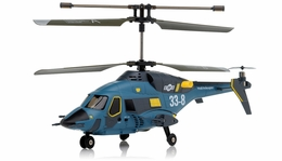 JXD Gyro 3 Channel  Helicopter Skywolf 338 (Blue) RC Remote Control Radio