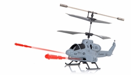 New UDI U809 Cobra Missile Launching 3.5 Channel Micro RC Helicopter w/ Gyro RTF (Gray)