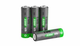 NiMH Rechargerable AA Battery 2200 mAh 4 Pieces