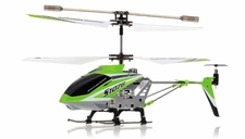 Syma 3 Channel S107G Mini Metal Indoor Co-Axial   Helicopter w/ Gyro (Green) RC Remote Control Radio