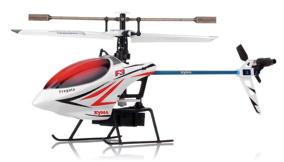Syma f3 4 channel helicopter white rc remote for Helicoptere syma