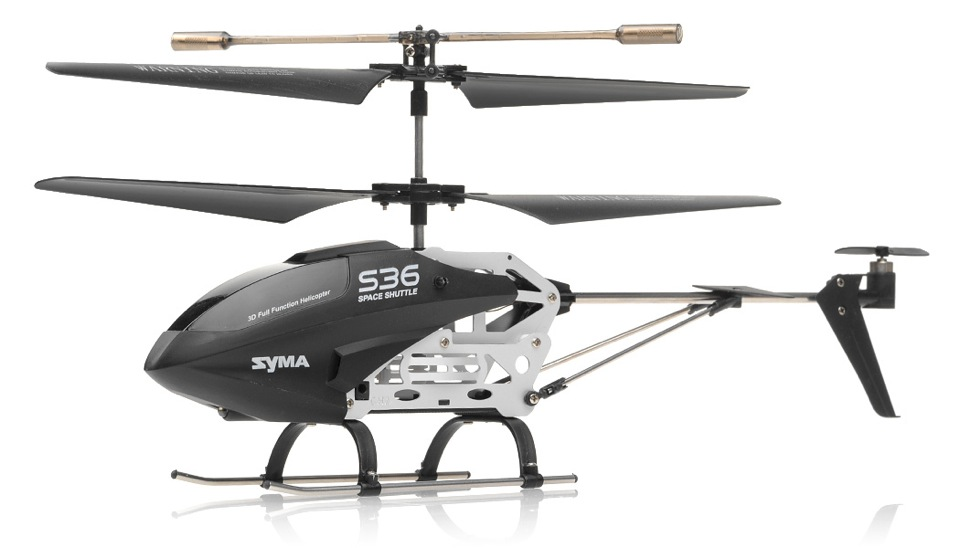 syma s36 3ch helicopter with gyro black rc remote. Black Bedroom Furniture Sets. Home Design Ideas