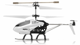 Syma   S36 2.4ghz 3CH Helicopter with Gyro (White) RC Remote Control Radio