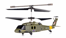 Syma S102G 3-Channel  Indoor Mini Co-Axial Infared UH-60 Black Hawk  Helicopter w/ Built in Gyro (Green) RC Remote Control Radio