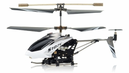 Syma S107C 3-channel Coaxial Mini Metal Spy Cam Helicopter w/ Gyro (White) RC Remote Control Radio