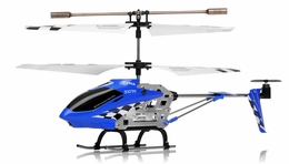 Syma S107N 3 Channel Mini Indoor Co-Axial Metal  Helicopter w/ Built in Gyroscope (Blue) RC Remote Control Radio