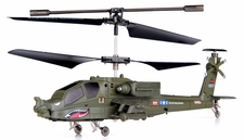 Syma S109G 3-Channel  Indoor Mini Co-Axial Infared AH-64 Apache  Helicopter w/ Built in Gyro (Green) RC Remote Control Radio