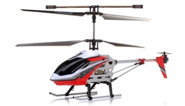"Syma S301G Metal  helicopter 18"" 3 Channel RTF + 27 mhz Transmitter with GYRO (Red) RC Remote Control Radio"