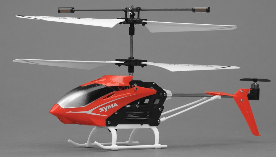 Syma S5 Infrared 3CH Helicopter with Gyro (Red) RC Remote ...