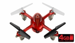 SYMA X11C 2.4G 4CH 6 Axis  Quadcopter Drone with 2.0MP Camera 360 Degree Flip Function w/ 4GB Memory Card (Red) RC Remote Control Radio