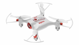 Syma X20 Pocket Drone 2.4Ghz Remote Control Mini RC Quadcopter with Altitude Hold and One Key Take-off / Landing (White)