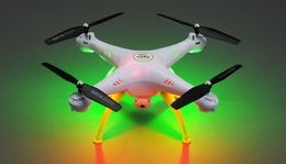 Syma Drone X5HC Explorers Hover Headless Camera 2.4G 6-axis Gyro Quadcopter RC Drone  Ready to Fly (White)+4GB Memory Card