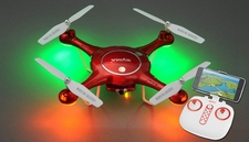 Syma Drone X5UW Hover WiFi FPV Camera 2.4G 6-axis Gyro RC Drone Quadcopter Ready to Fly w/ 4GB Memory Card