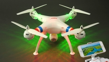 SYMA Drone X8W WiFi FPV Headless Mode 2.4G 4CH Remote Control Quadcopter RC Drone with HD 2MP Camera 6 Axis Gyro 3D Flip (White)