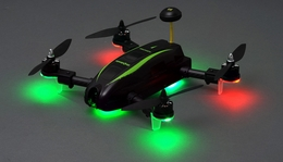 Top RC Hobby Racer Kingdowin KDW280 FPV Racing Drone Quad RTF Ready to Fly (Black)