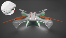UDI Drone RC U842 Falcon Quadcopter Drone HD Camera 6 Axis Gyro Flipping 2.4ghz Ready to Fly  w/ 4G Memory Card (White)