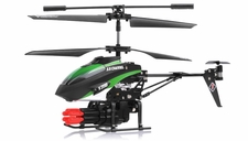 V398 3.5 Channel Missile Shooting Metal  Helicopter RTF with Six Missiles rapid fire (Green) RC Remote Control Radio