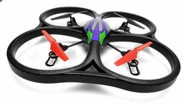 WL Toys V262 Cyclone UFO Drones 4 Channel 6 Axis Gyro Quadcopter 2.4Ghz Ready to Fly (Green) RC Remote Control Radio
