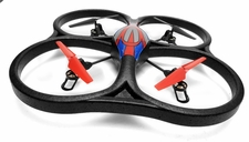 WL Toys V262 Cyclone UFO Drones 4 Channel 6 Axis Gyro Quadcopter 2.4Ghz Ready to Fly (Red) RC Remote Control Radio