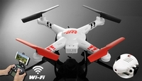 WL Toys Drone V686K 6-Axis Gyro 2.4G 4CH WIFI FPV Real-time Videos Return (Android and IOS compatible device) UFO  Quadcopter Drone with HD Camera + Headless Mode RC Remote Control Radio