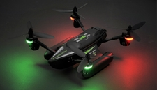 WLtoys Drone Q353 Aeroamphibious Air Land Sea Mode Headless Mode RC Quadcopter RTF 2.4GHz (Black)