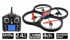WLtoys V333 2.4G 6 Axis UFO Quadcopter Drone RTF w/ Build in Camera (Red) RC Remote Control Radio