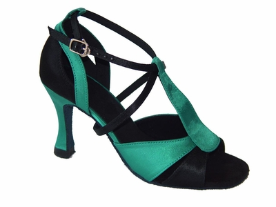 Green and Black Satin 175502