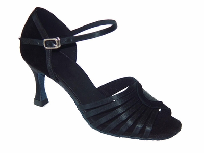 Black Satin+Nubuck sandals 175702
