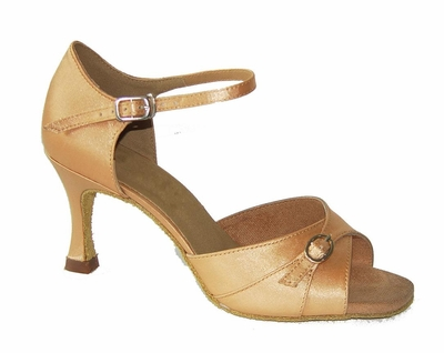 Flesh Satin Sandal 175801