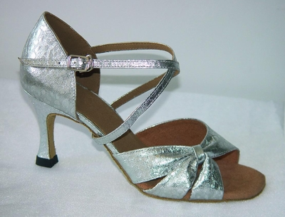Silver Leather Sandal 175902