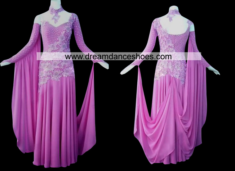 Glamorous Purple Ballroom Competition Gown B12