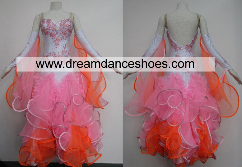 Pink Ballroom Smooth Dance Gowns B713