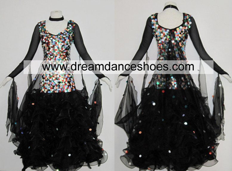 Colorful Beads Ballroom Dance Gowns B716