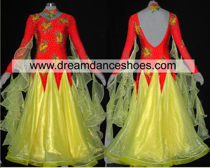 Crystal Ballroom Smooth Dance Gowns B717