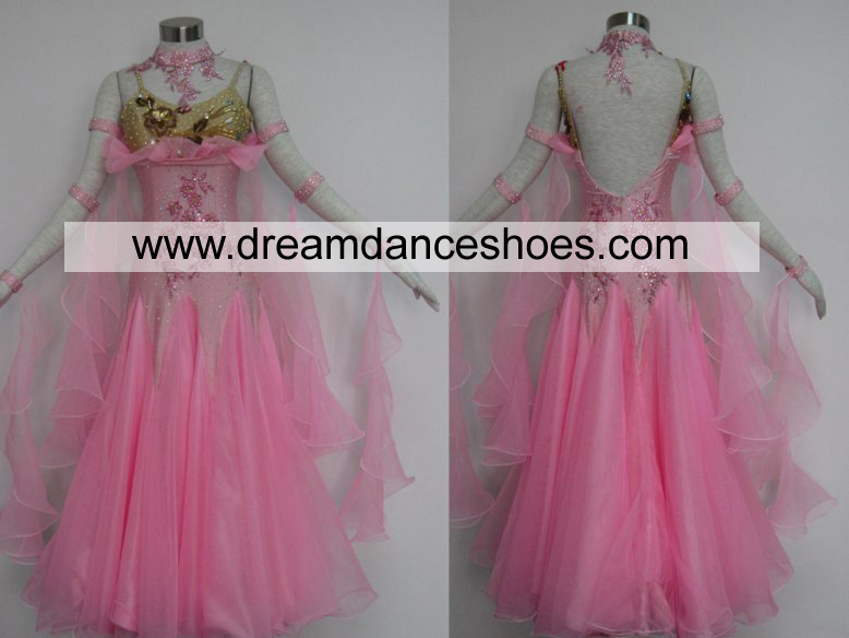 Pink Ballroom Smooth Dance Gowns B721