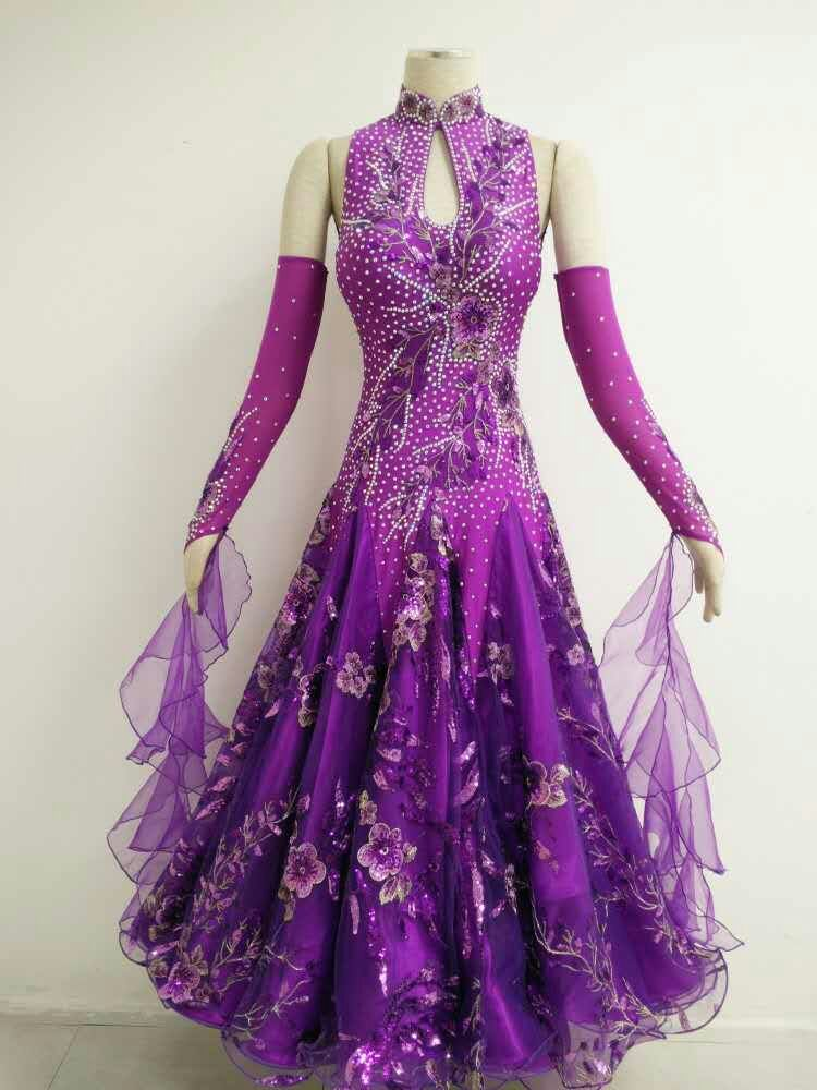 Purple Ballroom Dresses For Las B1563