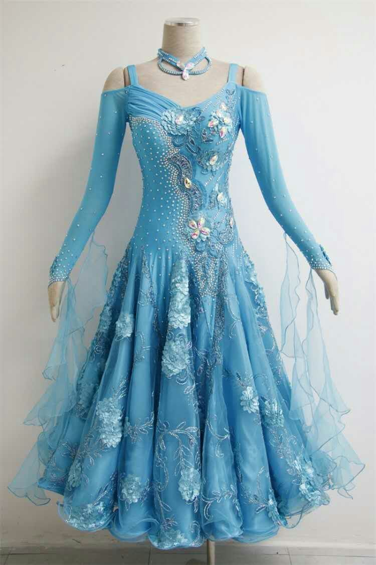 Blue Ballroom dresses girls B1562