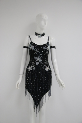 L959  Black latin dress