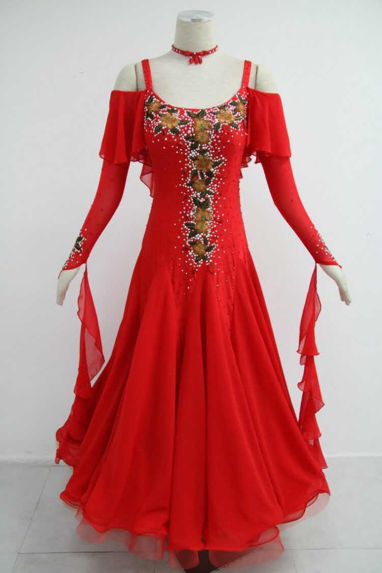 Red ballroom dress B1567