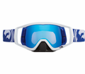 Dragon - Vendetta - Blue / White Split Blue Steel Lens Eyewear from Motobuys.com
