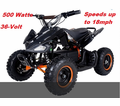"Kicker Elite Fully Electric ATV / Quad - <b><font color=""red""><font size=""4"">Massive 36-Volts + 500 WATTS of Power - Speeds to 18mph</font></font></b>"