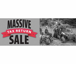 MASSIVE TAX RETURN SALE ON NOW!