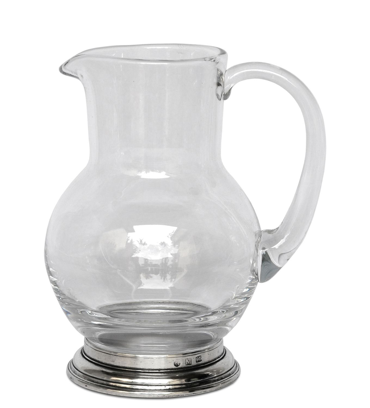 1 2 liter glass pitcher by match pewter. Black Bedroom Furniture Sets. Home Design Ideas