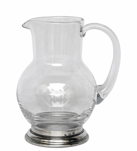 1/2 Liter Glass Pitcher by Match Pewter