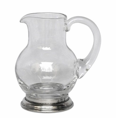 1/4 Liter Glass Pitcher by Match Pewter