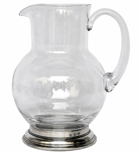 1.5 Liter Glass Pitcher by Match Pewter