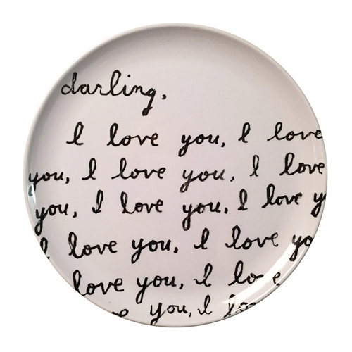 "10"" Darling I Love You Melamine Plates (Set of 4) by Sugarboo Designs"